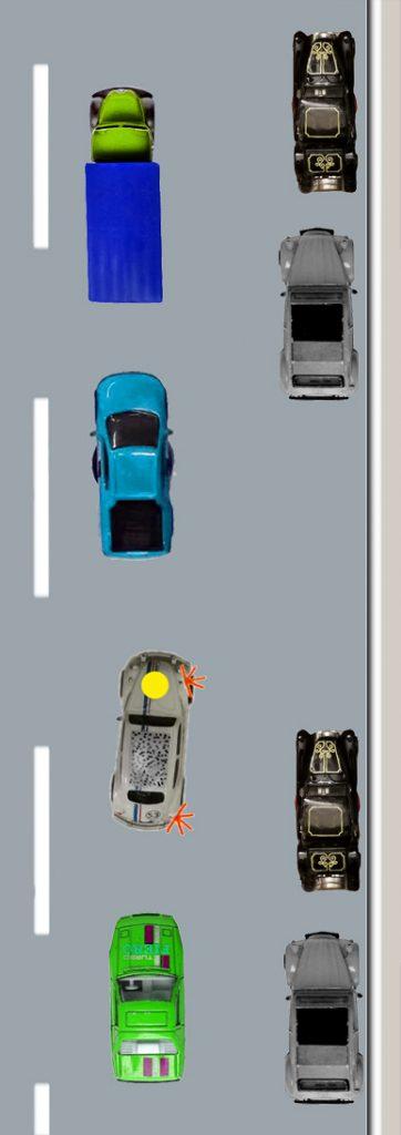 Parkunfall – Parksituation im Vorfeld, Parken unter Druck und Angst.