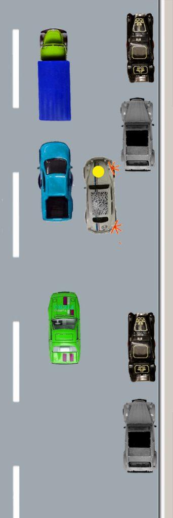 2. Etappe des Unfallvorgangs: Stress und ungeschickte Aufstellung zum Parken